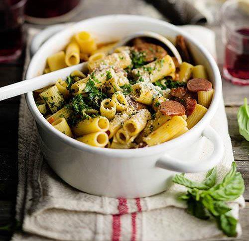 Spaanse chorizo-pasta