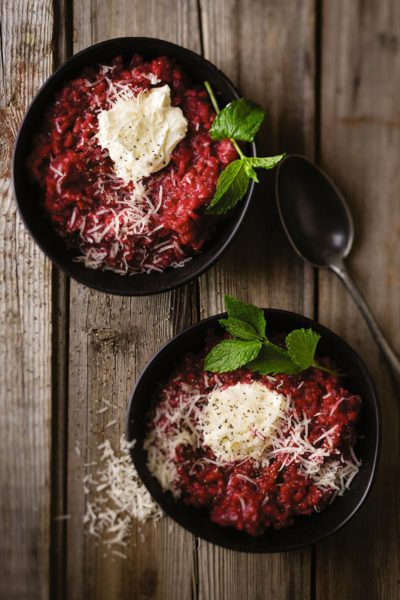 Beet-risotto