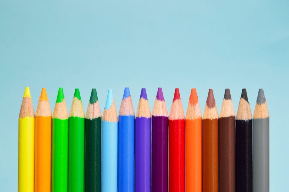 Gekleurde potlode