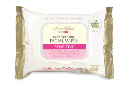African Extracts Cleansing Facial Wipes in Sensitive (R42,99)