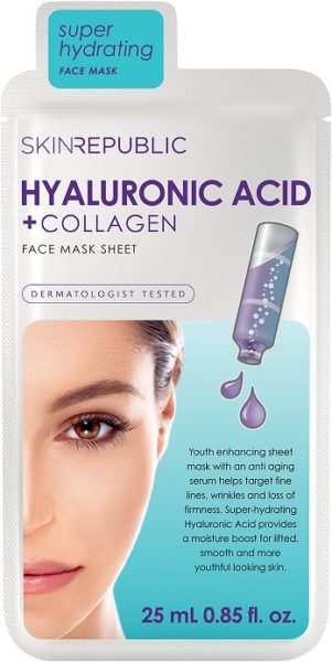 Skin Republic Hyaluronic Acid + Collagen Face Mask_reduced